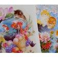 画像2: 猫と花のポストカードセット (2)