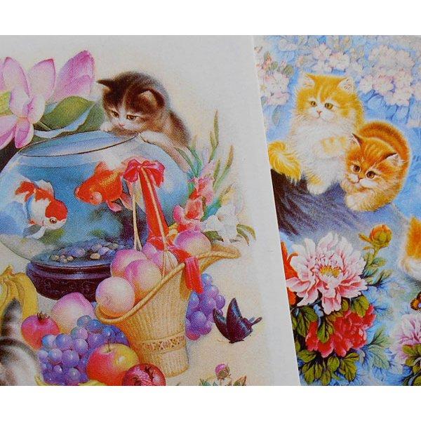 画像2: 猫と花のポストカードセット