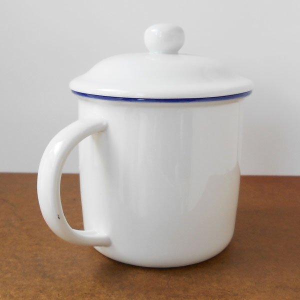 画像2: 毛主席フタ付き陶器マグカップ