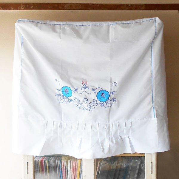 画像1: 青花刺繍洗濯機カバー