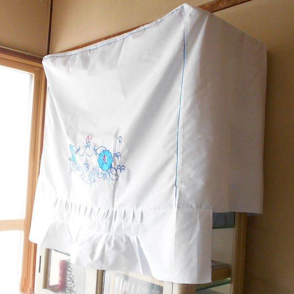 画像2: 青花刺繍洗濯機カバー
